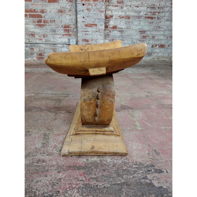 19th Century 19th Century Beautiful Hand Carved African Ashanti Stool For Sale - Image 5 of 10
