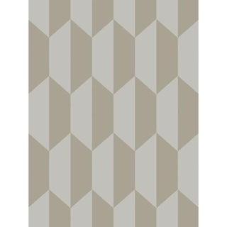 Cole & Son Tile Wallpaper Roll - Grey And Silver For Sale