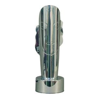 Art Deco/Modernist Chromed Lady Lamp by Revere For Sale