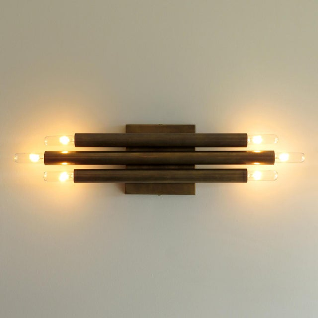 Brass 'Trinus' Wall Lights by Gallery L7 - a Pair For Sale - Image 8 of 11