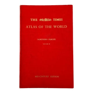 """1955 London Times """"Atlas of the World"""" First Edition Book For Sale"""