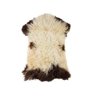 "Handmade Wool Sheepskin Pelt Rug - 1'10""x2'10"" For Sale"