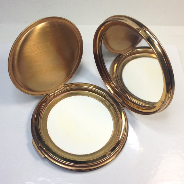 Stratton Embroidered Gold Tone Compact - Image 4 of 5