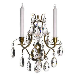 Crystal Sconce Pompe Chandelier For Sale