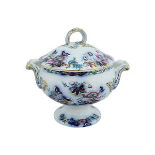 1850s Antique Davenport Ironstone Tureen For Sale
