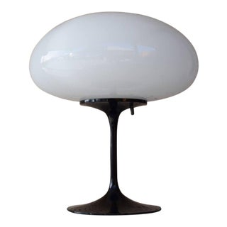 1960s Mid-Century Modern Bill Curry for Stemlite Black Mushroom Lamp For Sale