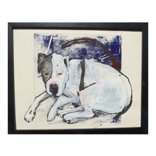 """Martha Holden, Contemporary Drawing """"Puppy"""" For Sale"""