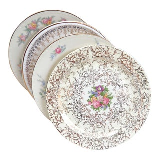 Vintage Mismatched Fine China Dessert Plates - Set of 4