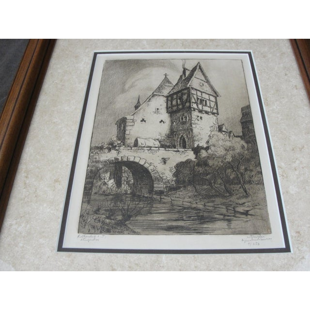 German Engraving of Rothenburg Ob Der Tauber - Image 5 of 8