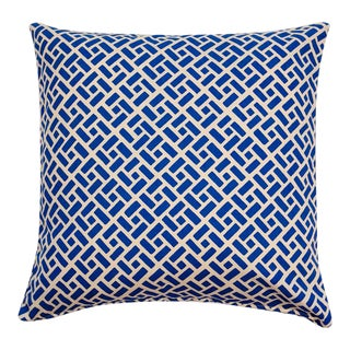 Custom French Blue Pillows - a Pair For Sale