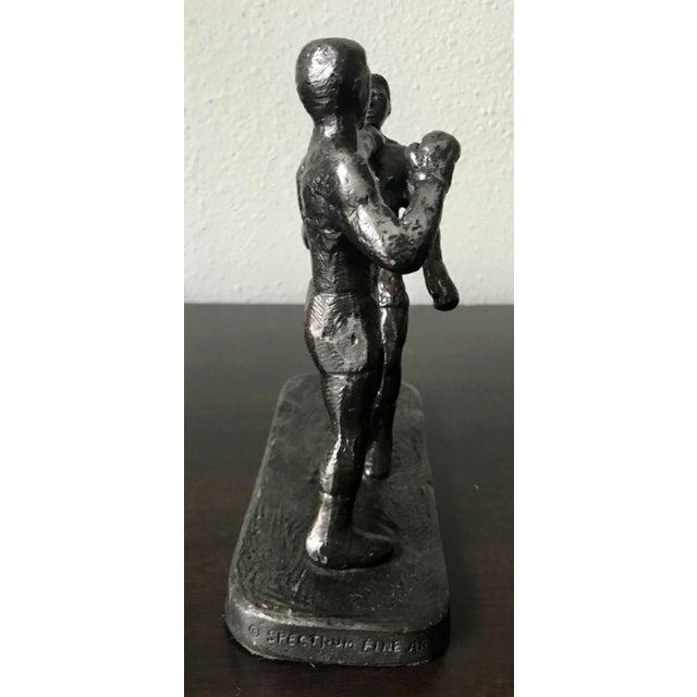 1970s Vintage Spectrum Arts Brutalist Boxing Greg Wyatt Cast Bronze Statuttete For Sale - Image 4 of 10