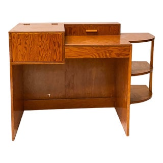 Folk Art Machine Age Plywood Writing Desk For Sale