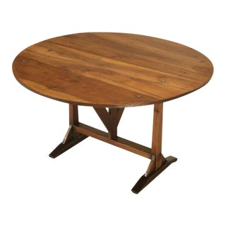 Antique French Tilt-Top Wine Table For Sale