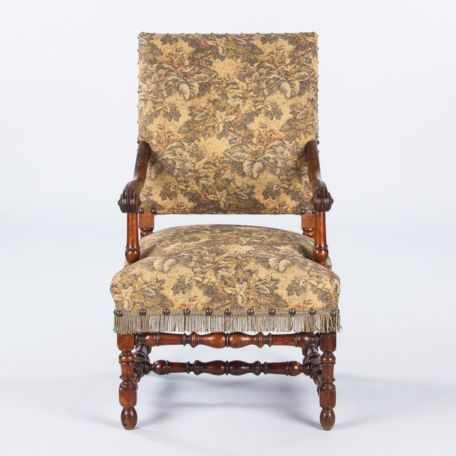 1860's French Louis XIII Style Armchairs - Pair - Image 4 of 10