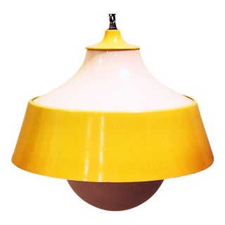 Mid-century Modern Bright Yellow Swag Lamp