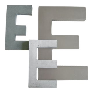 "Signage ""E"" Letters - Set of 3 For Sale"