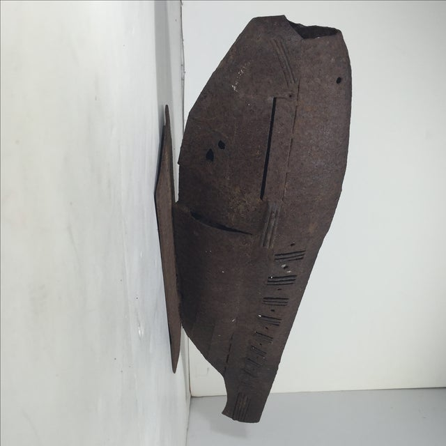 Brutalist Metal Fish Sculpture - Image 5 of 11
