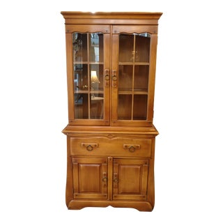 1940s Maple China Cabinet