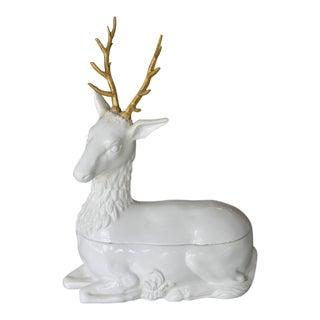 Mottahedeh Italian Ceramic Reindeer Compote