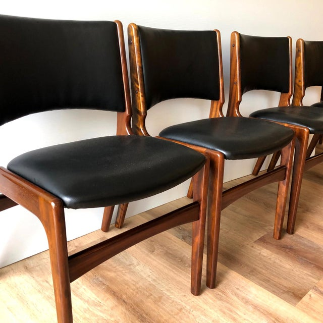 Mid-Century Modern 1960s Vintage Rosewood Dining Chairs by Erik Buch (Model 89) - Set of 4 For Sale - Image 3 of 13