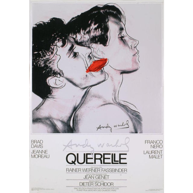 1983 Querelle Poster by Andy Warhol For Sale