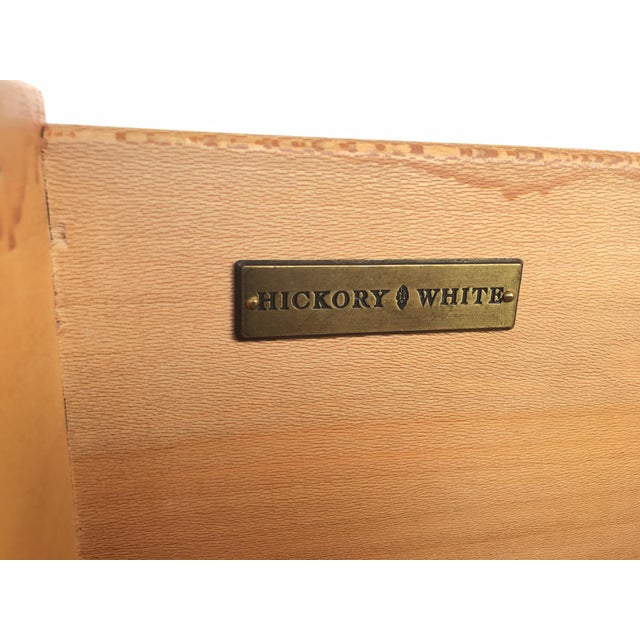 Brown Ming Asian Blonde Wood Server by Hickory White For Sale - Image 8 of 9