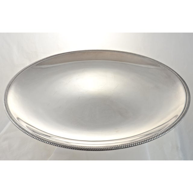 """Oversize 17"""" Round Silver Tray, Circa 1950s - Image 4 of 4"""