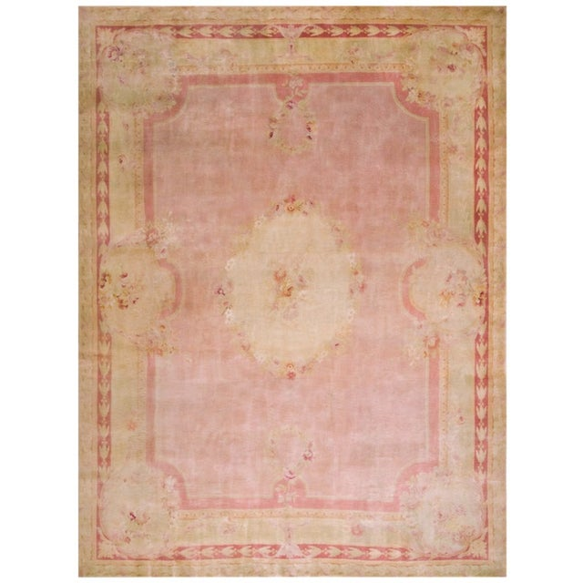 """Textile Antique Savonnerie Rug 11'10"""" X 16'6"""" For Sale - Image 7 of 7"""