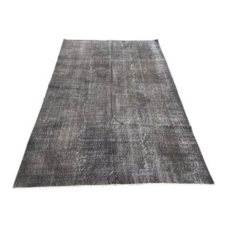 1960s Turkish Oushak Bohemian Tribal Gray Wool Rug For Sale