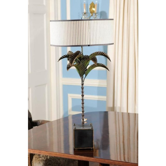 Italian Tole Palm Lamp - Image 2 of 5