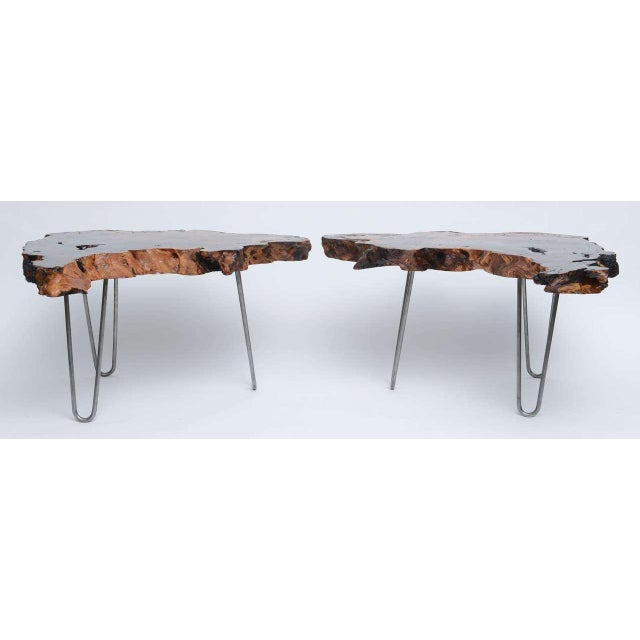 Gorgeous Redwood Tables For Sale - Image 4 of 10