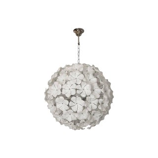 Venini Style Murano Glass Flowers Chandelier For Sale