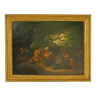 """Late 18th Century Oil Painting """"The Gypsy Family Encampment"""" by George Morland For Sale"""