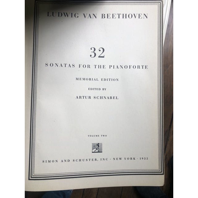 Traditional Vintage Beethoven Sonatas for Piano Books - Set of 3 For Sale - Image 3 of 5