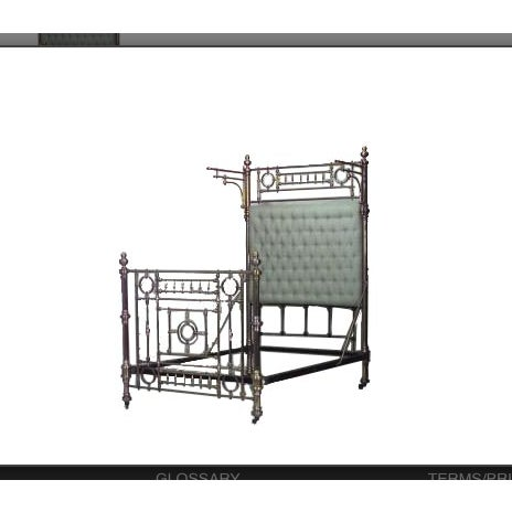 Traditional Dramatic 19th Century American Full Sized Brass Bed For Sale - Image 3 of 3