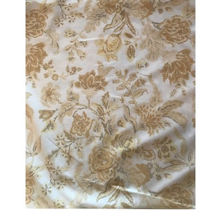 Peter Fasano Linen Backed Floral Fabric - 7 5/8 Yards For Sale