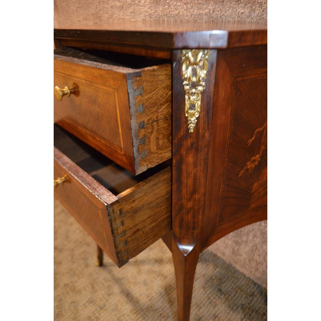 Antique French Inlaid Rosewood Two Drawer Small Chest - Image 8 of 11