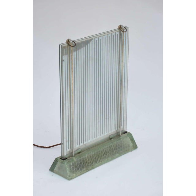Art Deco 1930s Museum Quality Glass Radiator by René Coulon for Saint-Gobain For Sale - Image 3 of 6