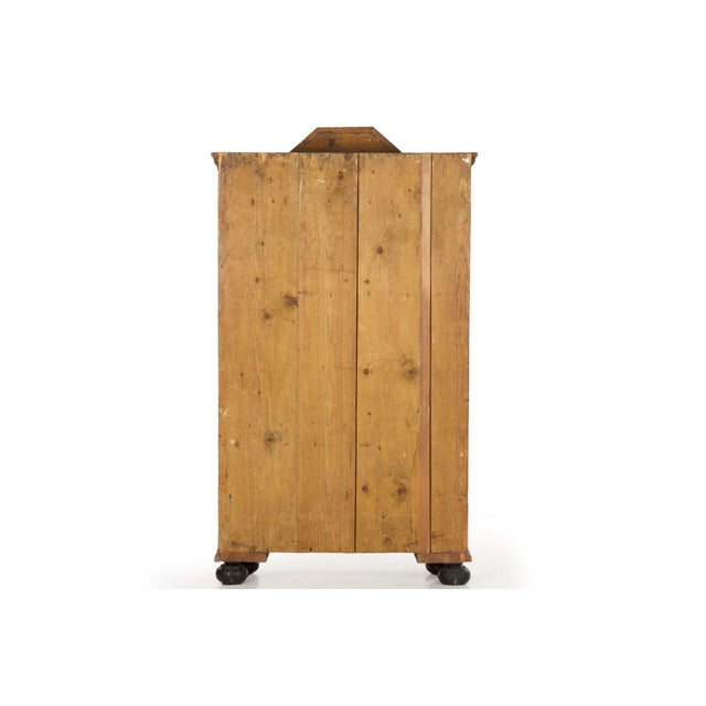 19th Century Antique Painted Armoire Cabinet Circa Late 19th Century For Sale - Image 6 of 13