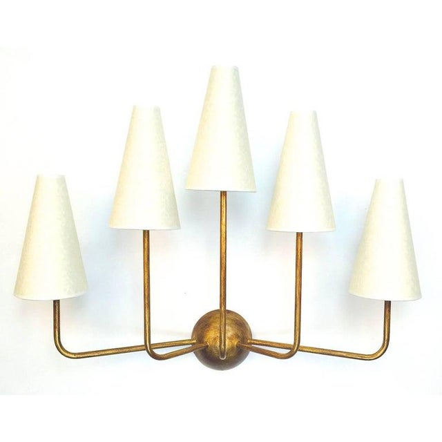 Green Single-Arm Green Wall Lamp in the Style of Jean Royère For Sale - Image 8 of 12