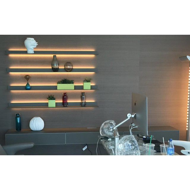 Rimadesio Abacus Wall Unit Shelves Drawers - Four Lighted Shelves And Three Touch Latch Drawers - Image 4 of 10