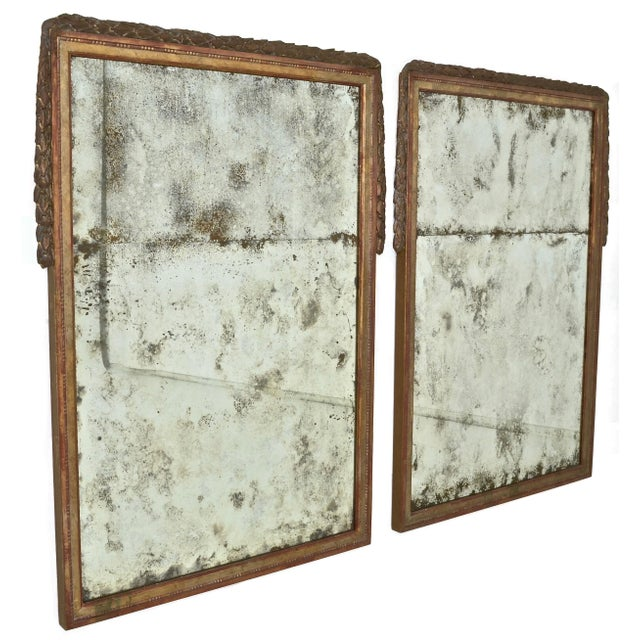 Large Niermann Weeks Neoclassical Mirrors with Antiqued Glass - a Pair - Image 9 of 9