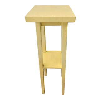 Citrus Yellow Painted Wood Plant Stand For Sale