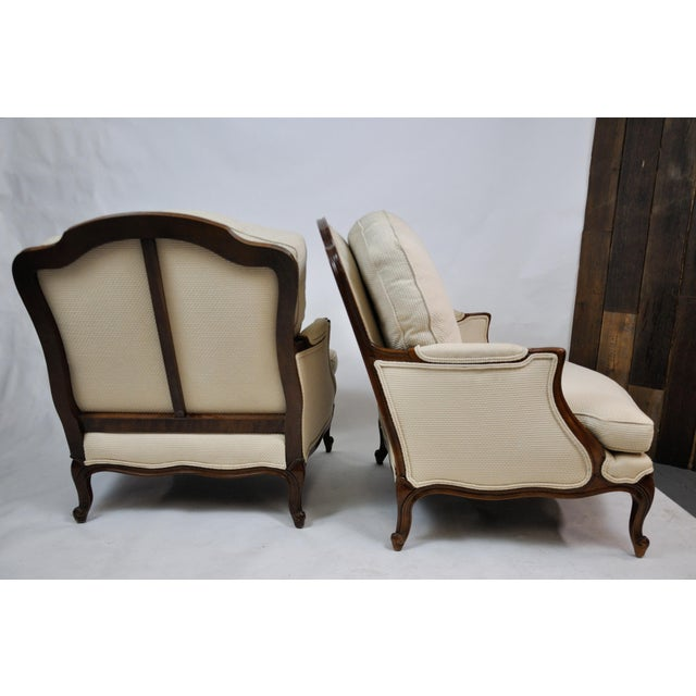 Pair of Vintage Queen Anne Wingback Chairs For Sale - Image 10 of 13