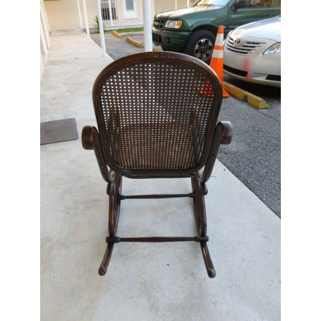 Thonet Original Condition Signed Thonet Bentwood Rocker Circa 1896 For Sale - Image 4 of 11