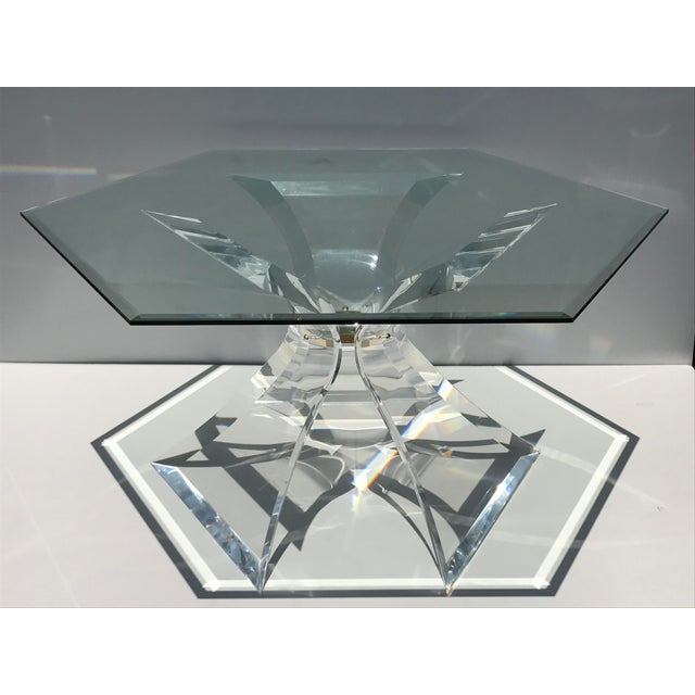 Lion in Frost Lucite Tripod Base Dining Table - Image 2 of 10