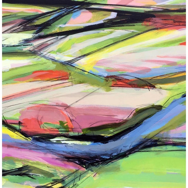 Abstract Onion Road III - Spring Acrylic Painting For Sale - Image 3 of 5