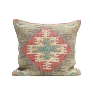 Turkish Kilim Woven Throw Pillow For Sale