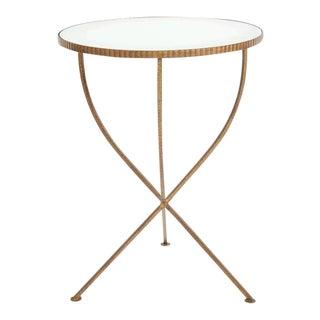 Vintage Bronze & Mirror Side Table