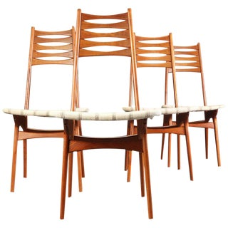 1960s Danish Niels Moller Teak Dining Chairs by Bolting Stolefabrik - Set of 4 For Sale